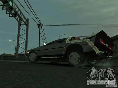 DeLorean BTTF 2 для GTA 4 вид справа