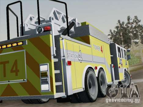 Pierce Arrow XT BCFD Tower Ladder 4 для GTA San Andreas вид снизу