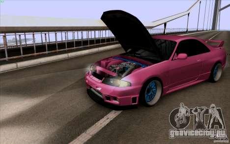 Nissan Skyline GTR 33 Fatlace для GTA San Andreas вид слева