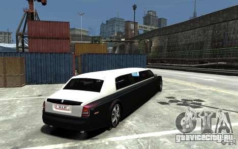 Rolls-Royce Phantom Sapphire Limousine v.1.2 для GTA 4 вид справа
