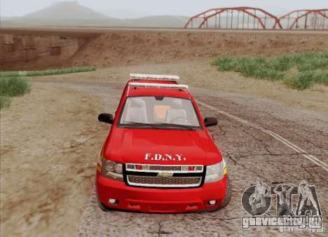 Chevrolet Suburban EMS Supervisor 862 для GTA San Andreas вид изнутри