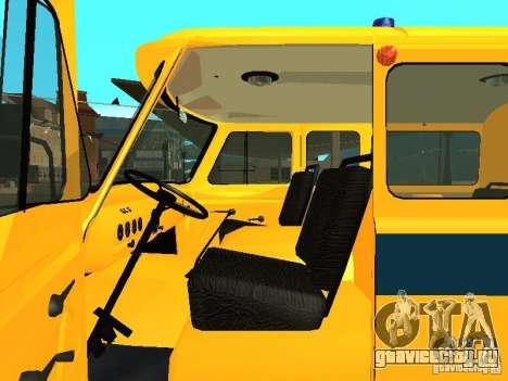 УАЗ 2206 Милиция для GTA San Andreas вид сзади