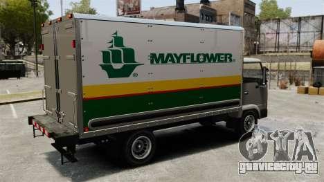 Новая реклама для грузовика Mule для GTA 4 вид справа