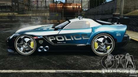 Dodge Viper SRT-10 ACR ELITE POLICE для GTA 4 вид слева