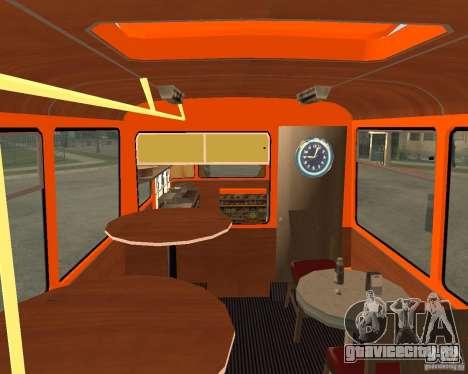 ЛиАЗ-677 (Кафе минутка) для GTA San Andreas вид слева