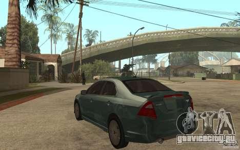 Ford Fusion 2010 для GTA San Andreas вид сзади слева