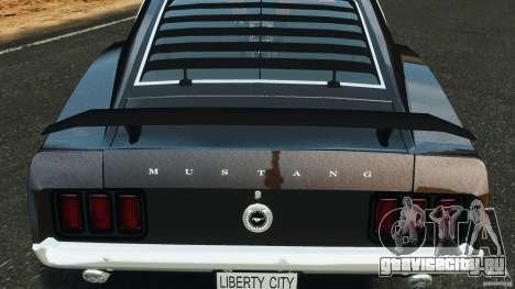 Ford Mustang Boss 429 для GTA 4 вид сверху