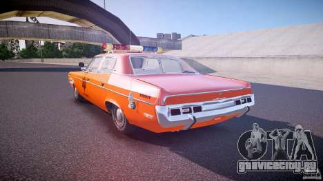 AMC Matador Hazzard County Sheriff [ELS] для GTA 4 вид сзади слева