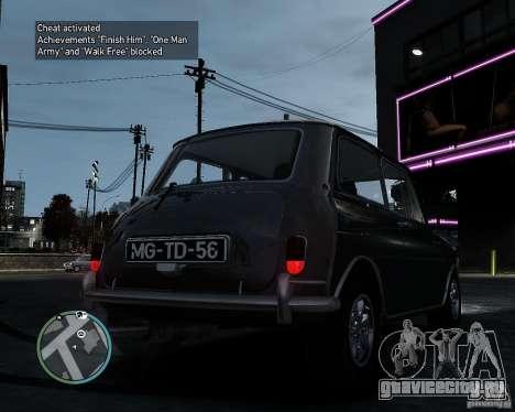 Austin Mini Cooper S для GTA 4 вид сзади слева