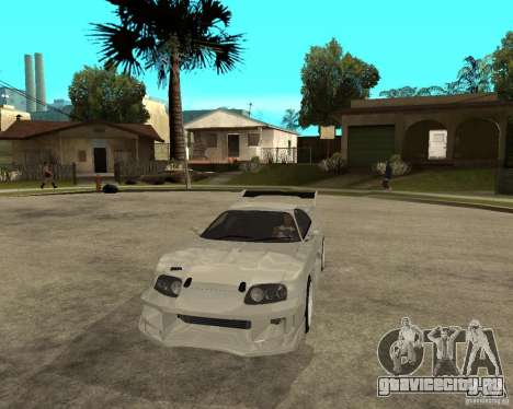 Toyota Supra M4K для GTA San Andreas вид сзади
