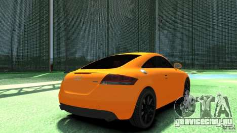 Audi TT Stock 2007 для GTA 4 вид сзади слева