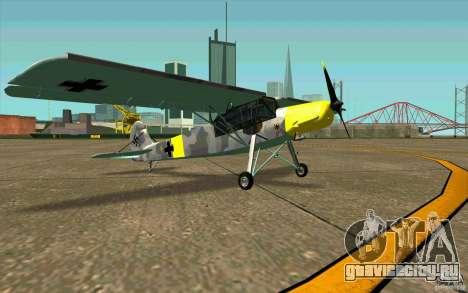 Fiesler Storch для GTA San Andreas вид сзади слева