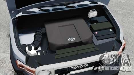 Toyota FJ Cruiser для GTA 4 вид изнутри