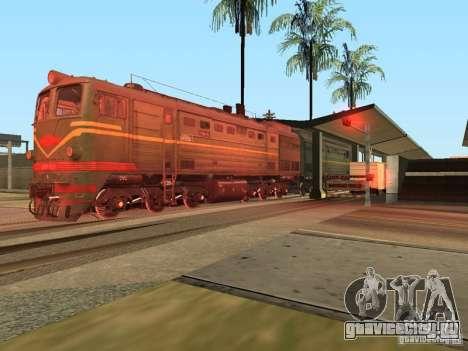 Тепловоз 2ТЭ10Л для GTA San Andreas вид справа
