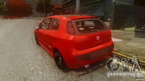Fiat Punto Evo Sport 2010 для GTA 4 вид сзади слева