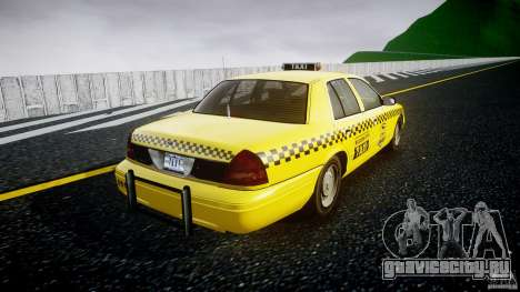 Ford Crown Victoria Raccoon City Taxi для GTA 4 вид изнутри