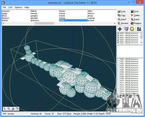 CollEditor 1.1beta для GTA Vice City второй скриншот