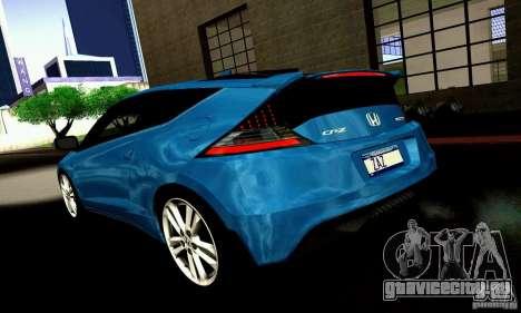 Honda CR-Z 2010 V2.0 для GTA San Andreas вид сзади