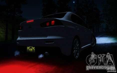 Mitsubishi Lancer Evolution X Tunable для GTA San Andreas салон