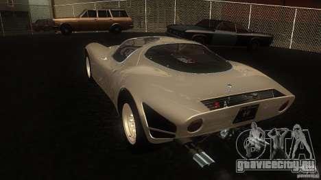 Alfa Romeo Tipo 33 Stradale для GTA San Andreas вид сзади слева