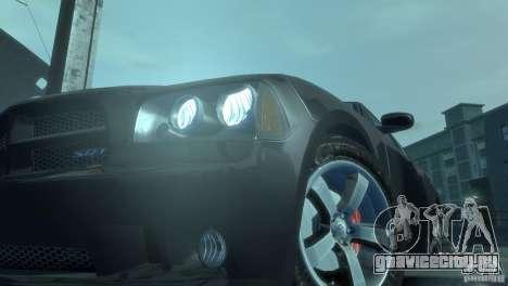 Dodge Charger 2007 SRT8 для GTA 4 вид изнутри