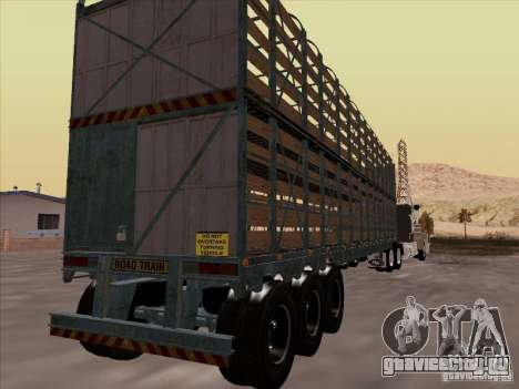 Прицеп к Mack RoadTrain для GTA San Andreas вид справа