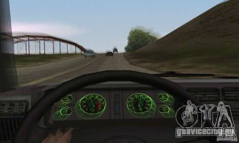 Vaz 2107 Stock v.2 для GTA San Andreas вид сзади