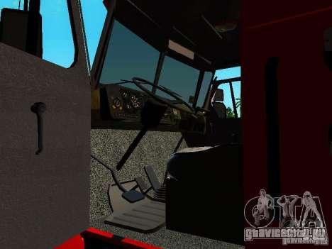 Урал 5557-40 пожарная для GTA San Andreas вид изнутри