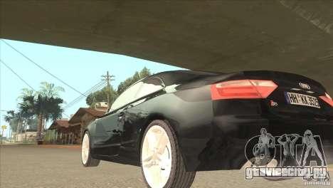 Audi S5 для GTA San Andreas вид сзади слева