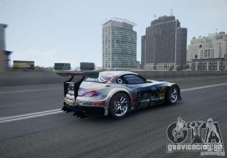 BMW Z4 GT3 2010 V.2.0 для GTA 4 вид сзади