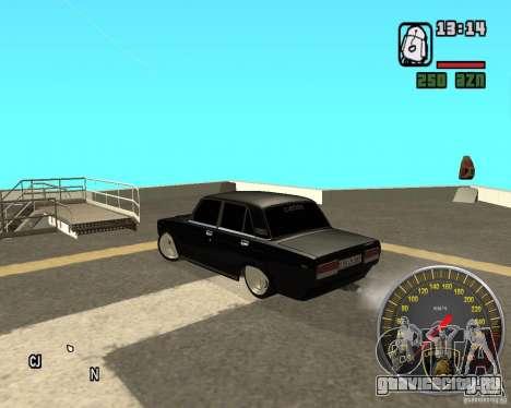 ВАЗ 2107 DuB для GTA San Andreas вид сзади слева