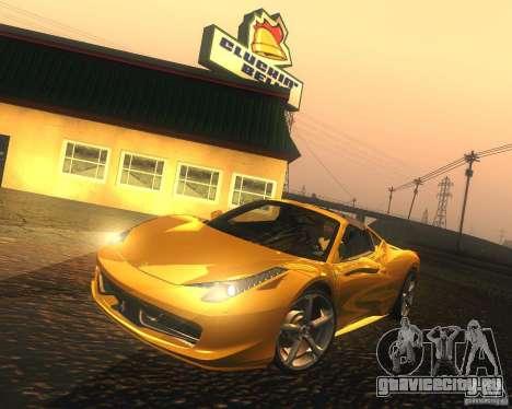 Ferrari 458 Italia Convertible для GTA San Andreas вид слева