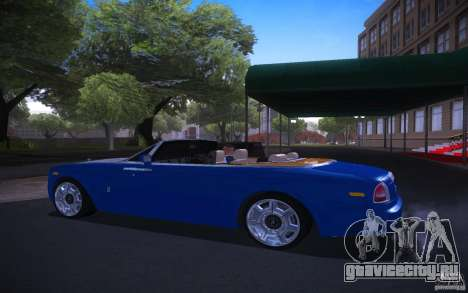 Rolls-Royce Phantom Drophead Coupe для GTA San Andreas вид слева