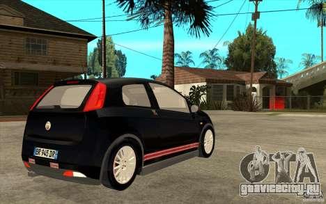 Fiat Grande Punto 3.0 Abarth для GTA San Andreas вид справа