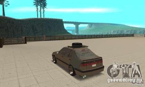 Saab 9000 GT Drifting 1998 для GTA San Andreas вид сзади слева