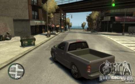Dodge Ram SRT10 для GTA 4 вид сзади слева