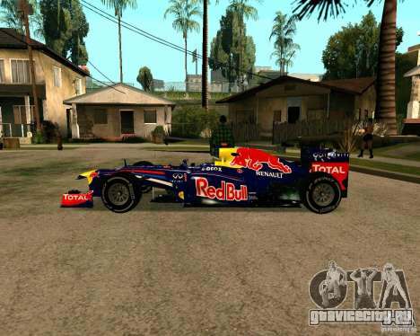Red Bull RB8 F1 2012 для GTA San Andreas вид слева