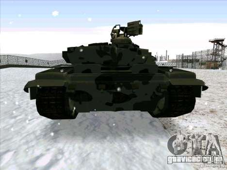 Т-90 из Battlefield 3 для GTA San Andreas вид справа