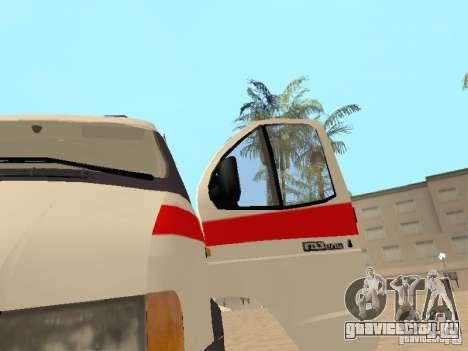 ГАЗель 2705 Скорая помощь для GTA San Andreas вид сзади