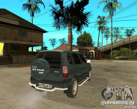 NIVA Chevrolet для GTA San Andreas вид сзади слева