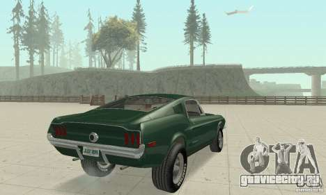 Ford Mustang Bullitt 1968 v.2 для GTA San Andreas вид слева