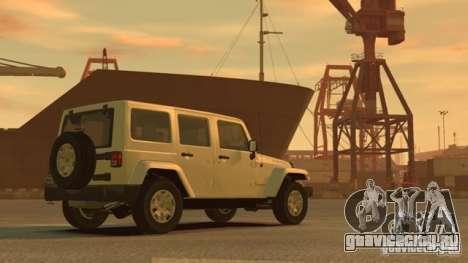 Jeep Wrangler Unlimited Rubicon 2013 для GTA 4 вид сзади слева