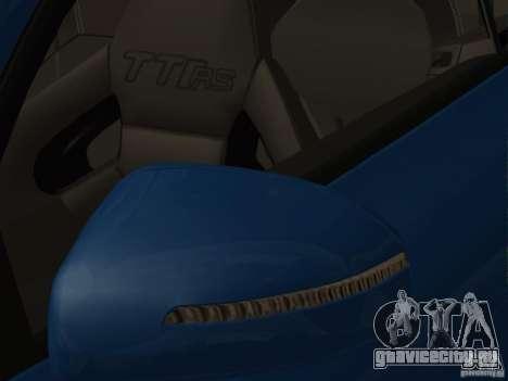 Audi TT RS для GTA San Andreas вид снизу