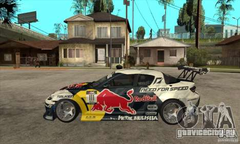 Mazda RX8 NFS Team Mad Mike для GTA San Andreas вид слева