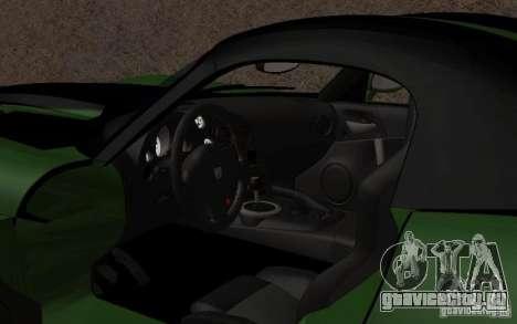 Dodge Viper немного тюнинга для GTA San Andreas вид слева