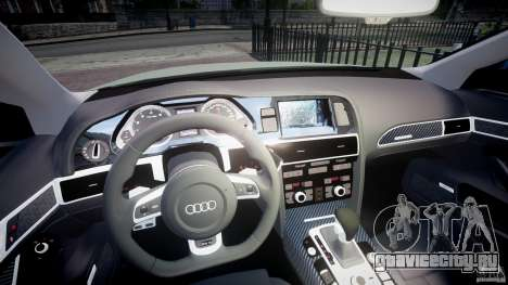 Audi RS6 2010 для GTA 4 вид сзади