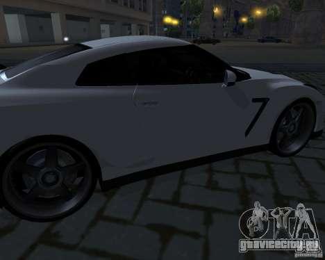 Nissan GTR-35 Spec-V для GTA San Andreas вид сверху