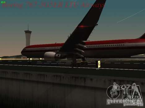 Boeing 767-3G5ER LTU Airways для GTA San Andreas вид сбоку