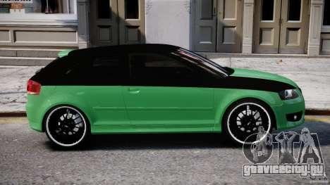 Audi S3 для GTA 4 вид снизу