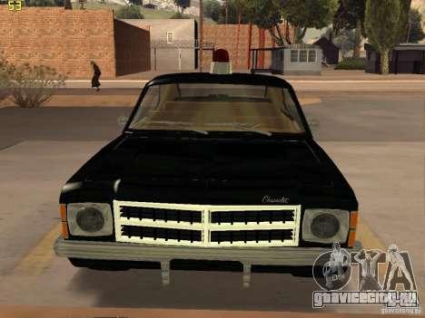 Chevrolet Opala Police для GTA San Andreas вид сзади слева